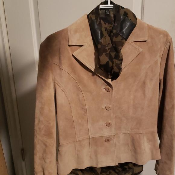 Beige Suede Jacket (Danier)